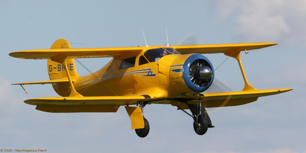 Beechcraft D 17 S Staggerwing - G-BRVE