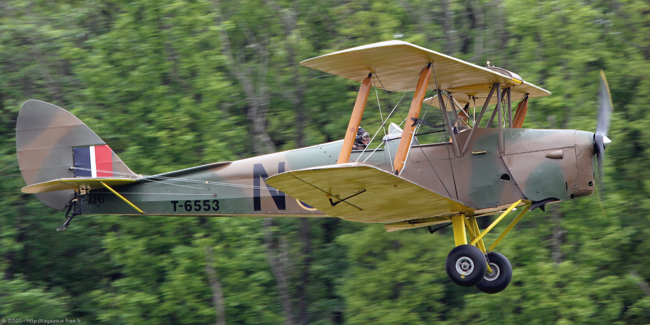De Havilland DH 82 Tiger Moth - F-AZEI